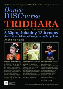 """Tridhara"" - a confluence of three classical dance styles, Bharatnatyam, Kathak & Orissi"