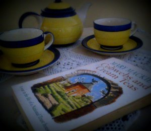 My copy of Cobwebs and Cream Teas.